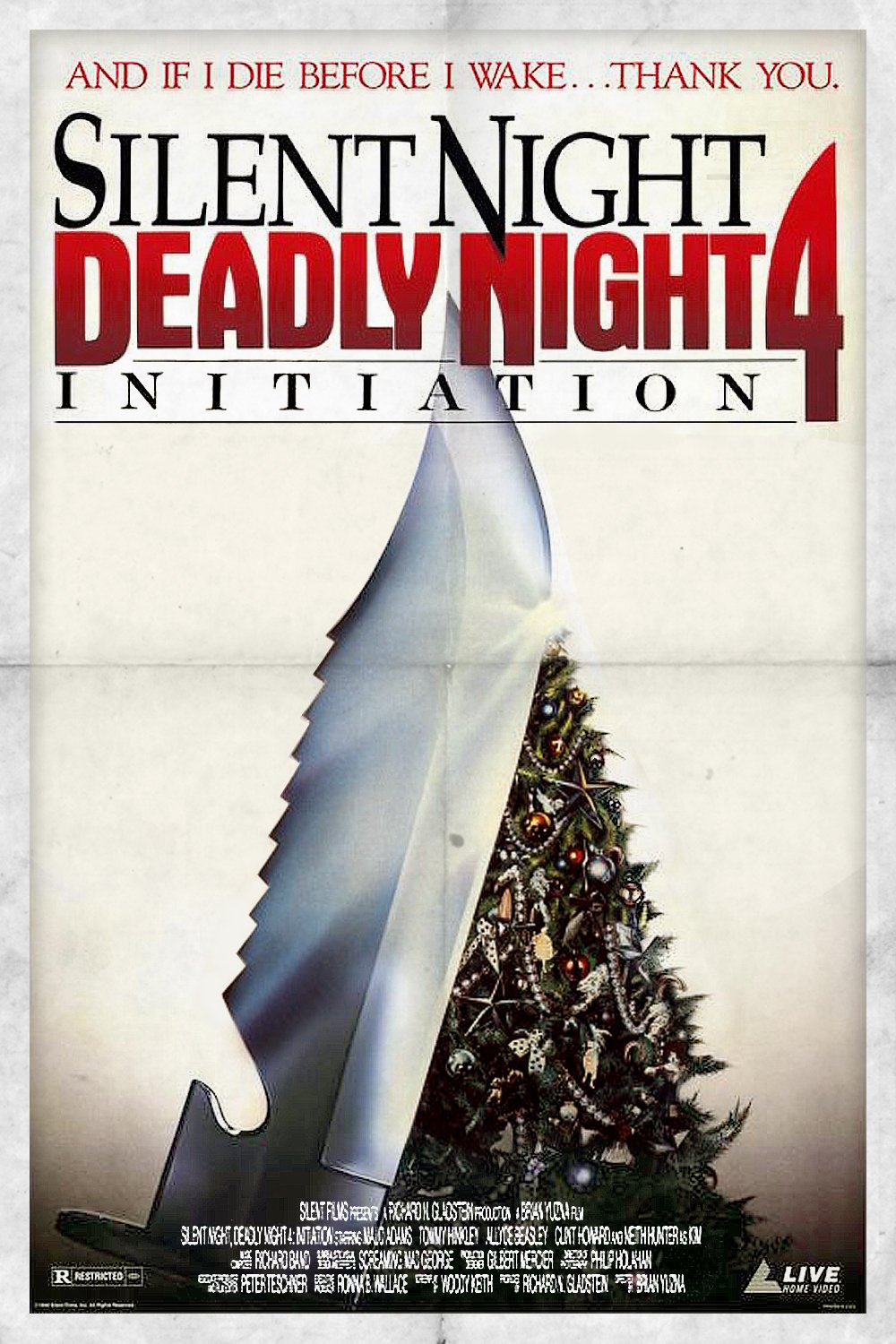 """Poster for the movie """"Initiation: Silent Night, Deadly Night 4"""""""