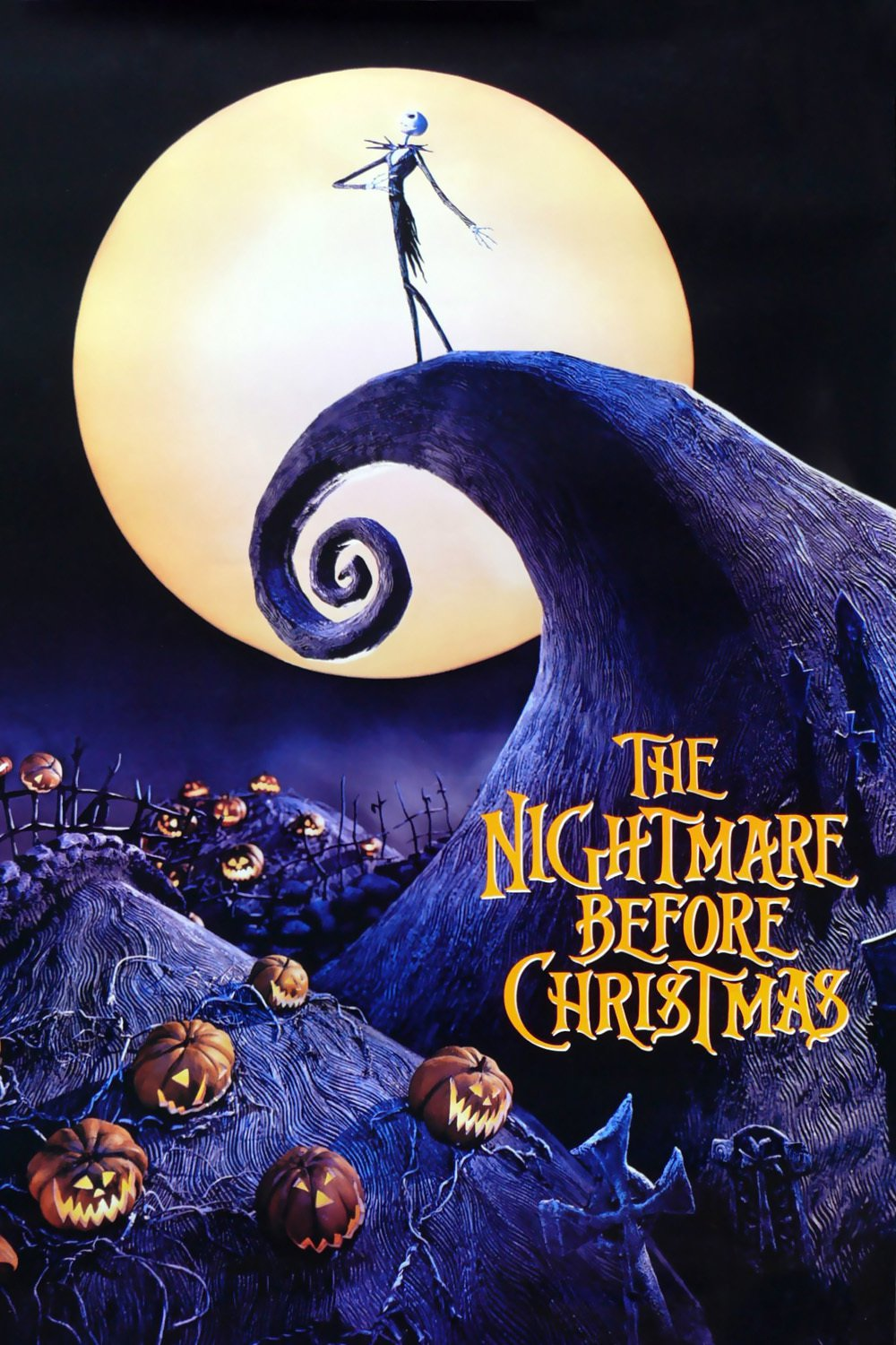 """Poster for the movie """"The Nightmare Before Christmas"""""""
