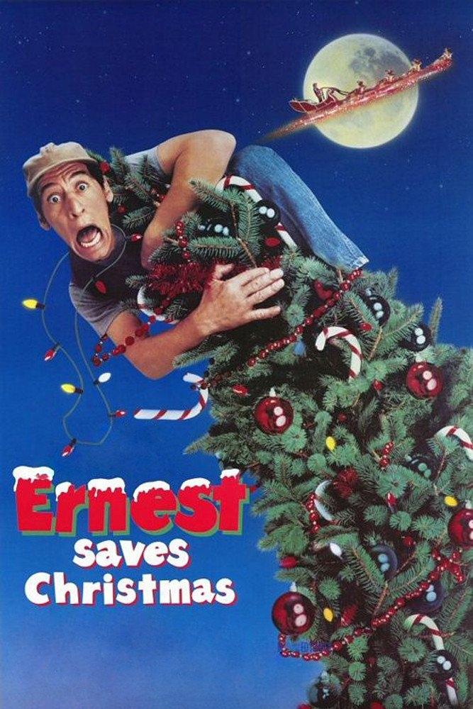 """Poster for the movie """"Ernest Saves Christmas"""""""
