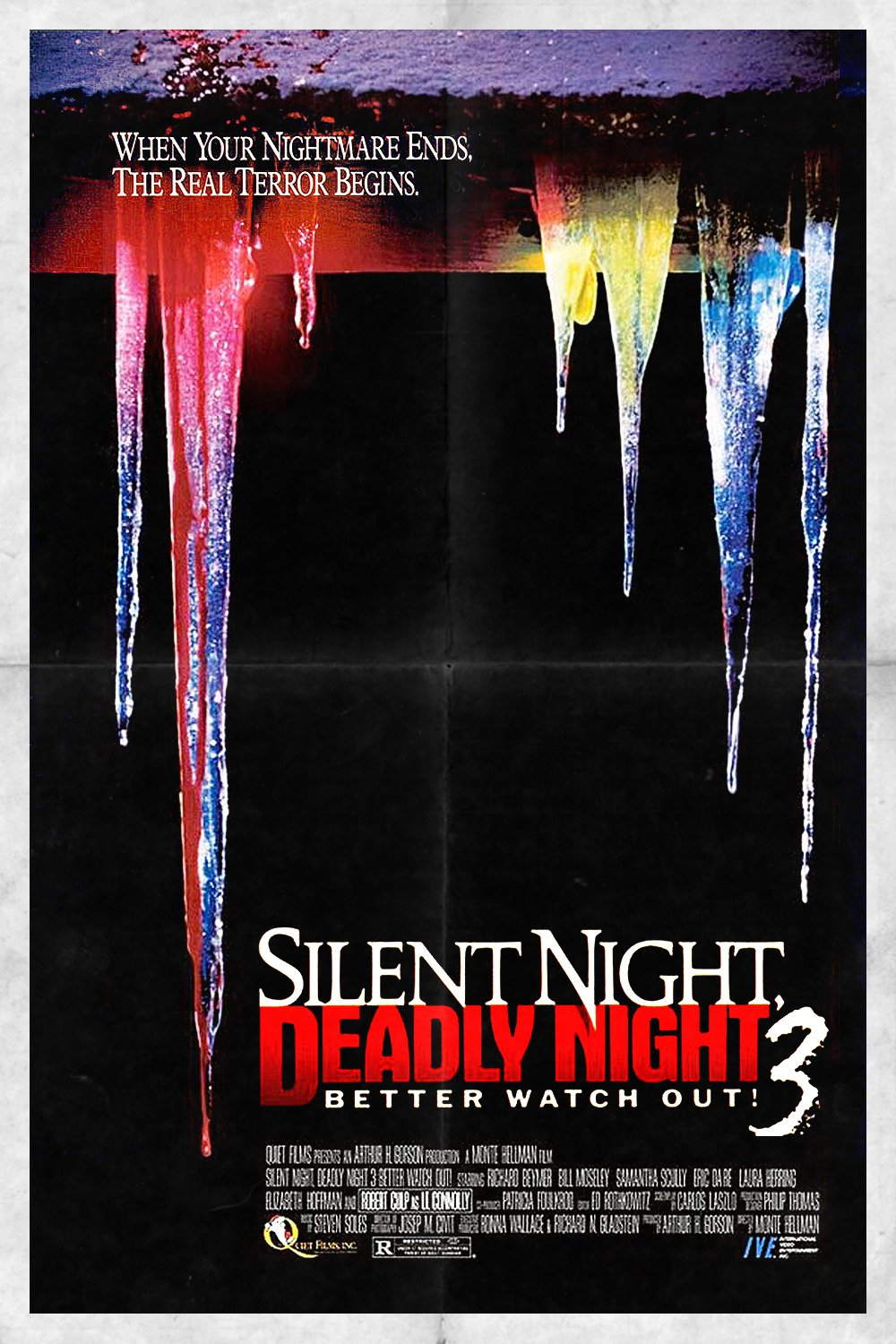 """Poster for the movie """"Silent Night, Deadly Night III: Better Watch Out!"""""""
