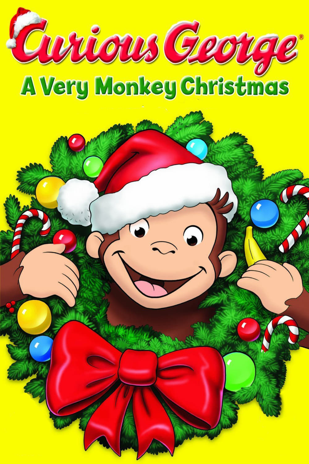 """Poster for the movie """"Curious George: A Very Monkey Christmas"""""""