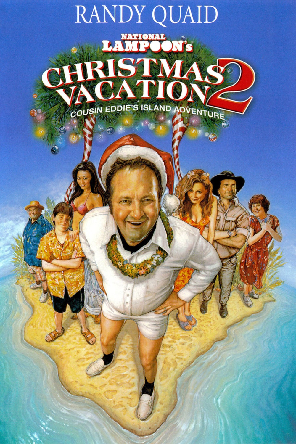 """Poster for the movie """"Christmas Vacation 2: Cousin Eddie's Island Adventure"""""""
