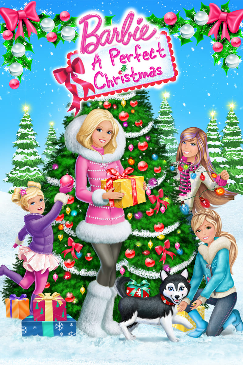 """Poster for the movie """"Barbie: A Perfect Christmas"""""""